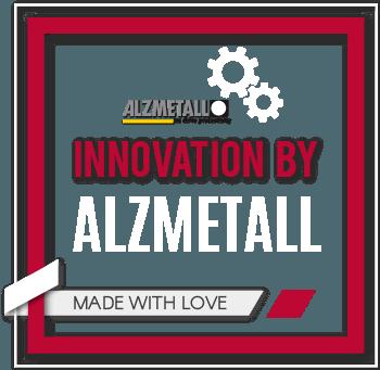 Bestes Qualitätssiegel: Innovation durch Alzmetall. Alzmetall Maschinen wurden mit Liebe im Detail gefertigt.
