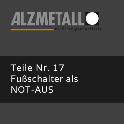 AX-Option 17: Fußschalter für Notaus