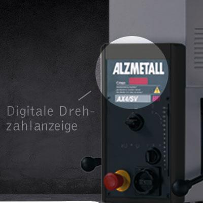 Highlight der AX 2-T/S: DIe Digitale Drehzahlanzeige