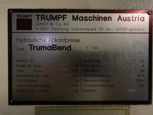 Trumpf TrumaBend V130 Abkantpresse 6 Achs Hinteranschlag | Bild 6