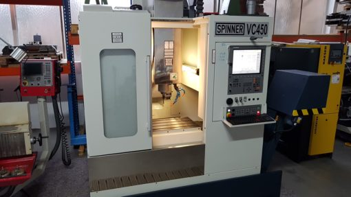 Bearbeitungszentrum Spinner VC 450 TNC 620 | Front
