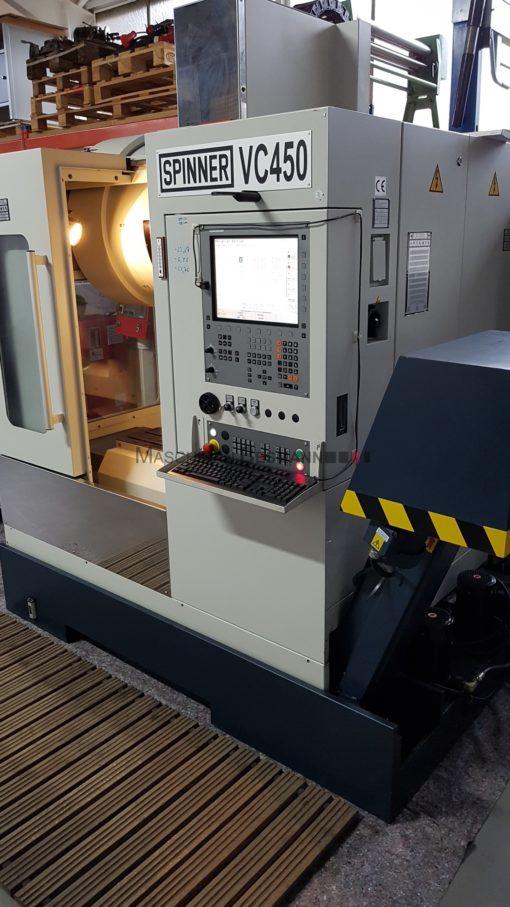Bearbeitungszentrum Spinner VC 450 TNC 620 | Seite/Rechts