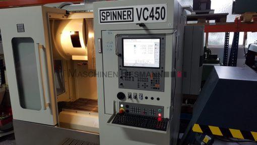 Bearbeitungszentrum Spinner VC 450 TNC 620 | Front/Seite