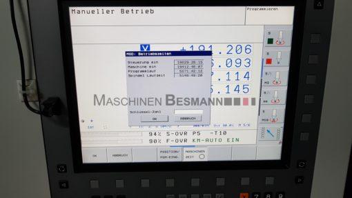 Bearbeitungszentrum Spinner VC 450 TNC 620 | Display