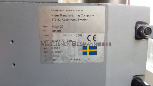 Saeulenbohrmaschine Getriebebohrmaschine RIWA 25 | Technische Daten