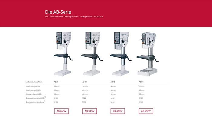 Die Alzmetall AB Säulenbohrmaschinen und Standbohrmaschinen