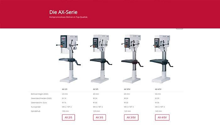 Alzmetall AX Tischbohrmaschinen und Säulenbohrmaschinen