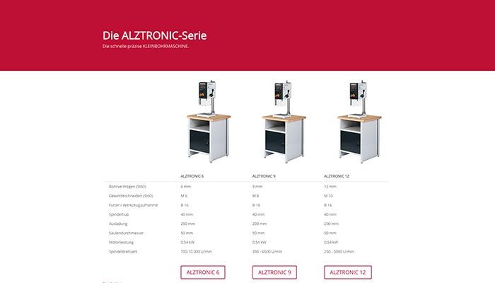 Alzmetall ALZTRONIC Tischbohrmaschinen
