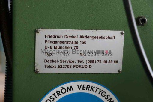 Universalfräsmaschine Deckel FP4A