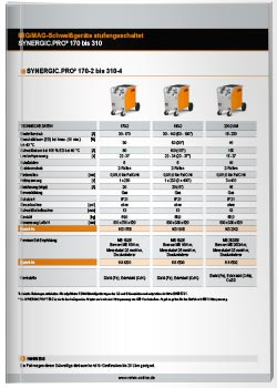 Download-Thumbnail des Datenblattes der SYNERGIC.PRO 170-319-Serie