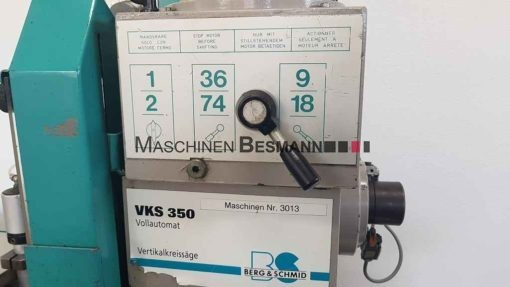 BERG&SCHMID VKS 350 VA i Metallkreissäge