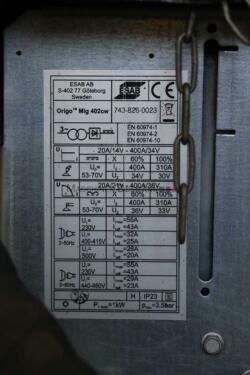 ESAB ORIGOMIG 402 CW MIG/MAG Schweißgerät