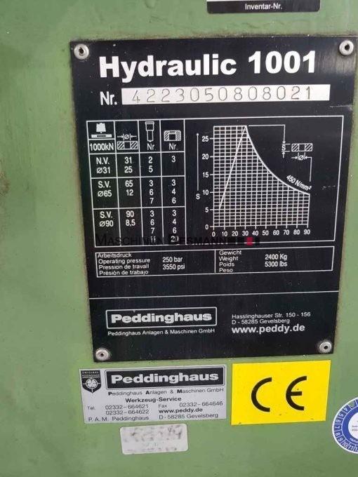 Peddinghaus Hydraulic 1001 Hydraulikstanze