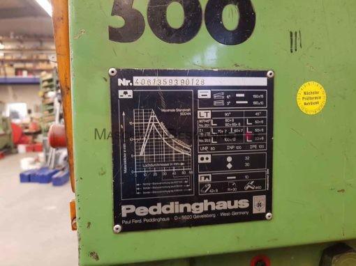 Peddinghaus Peddiworker 500 Profilstahlschere Lochstanze 50 TO