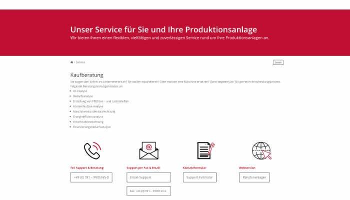 Unser Service für Sie und Ihre Produktionsanlagen