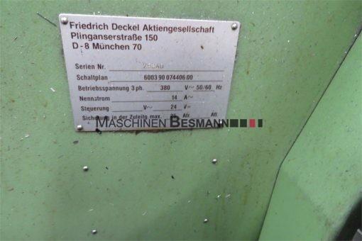 Universalfräsmaschine Deckel FP4M Aktiv