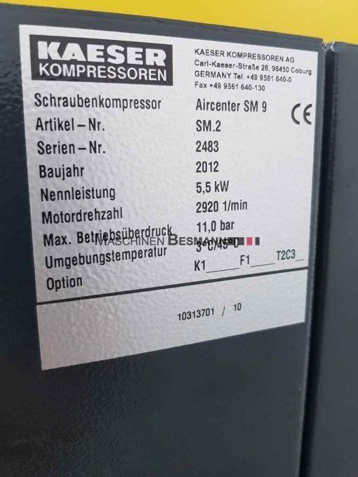 kaeser-sm9-aircenter-schraubenkompressor-bj-2012